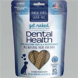 GET NAKED DOG GRAIN-FREE DENTAL HEALTH LARGE 6.6 OZ.
