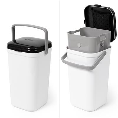 PetFusion Portable Cat Litter Disposal (Locking Handle, Flexibility to use Any Bags, Complimentary Litter Deodorizer & compostable Bags incl).