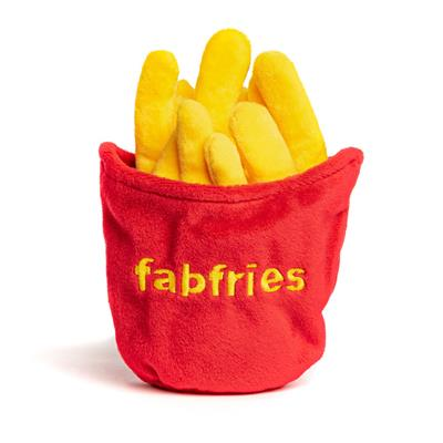 French Fries Super-squeaker Toy - Sold in 3s