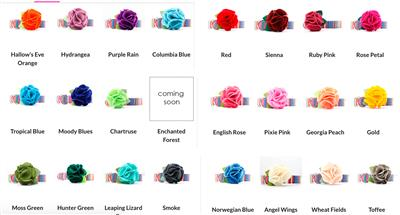 Dog Collar Hydrangea Flower -- 24 Colors