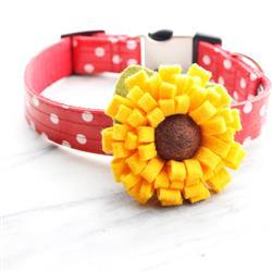 Sunflower Dog Collar Flower