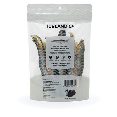 Capelin Whole Fish (2.5 oz Bag) Fish Treats by Icelandic+