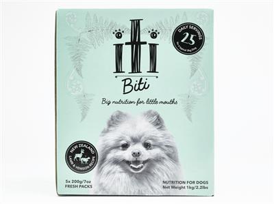 iti biti Lamb & Venison Air Dried Dog Food, 2.2lb Box