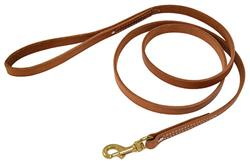 "HARNESS LEATHER LEASH (3/4"")"