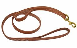 "DOUBLE HANDLE HARNESS LEATHER LEASH (3/4"")"
