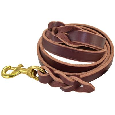 "BRAIDED LEATHER LEASH (1/2"" or 3/4"")"