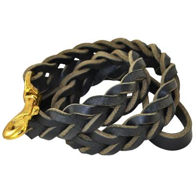 SLOT BRAIDED LEATHER LEASH
