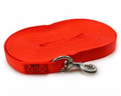 "1"" TUBULAR NYLON TRACKING LINE - Orange color 6, 15, or 30 ft."