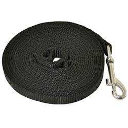 "1"" TUBULAR NYLON TRACKING LINE (Black) - 15 ft. 10M, or 50 ft."
