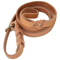 "6' HARNESS LEATHER SLIP LEASH (1/2"" or 3/4"")"