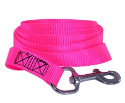 "6' X 1"" HOT PINK NYLON LEAD"