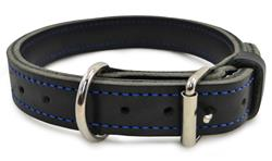 "1 1/4"" BLU-BLACK LEATHER AGITATION COLLAR"