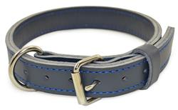 "1 1/4"" BLU-GREY LEATHER AGITATION COLLAR"