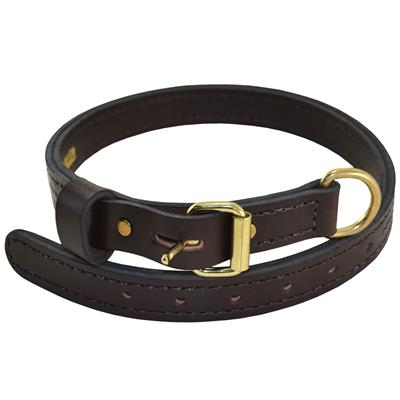 "1"" PREMIER COLLAR- English Rein Brown Leather"