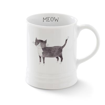 CAT MUG WITH ARTWORK BY JULIANNA SWANEY