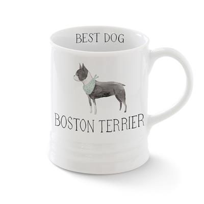 BOSTON TERRIER MUG WITH ARTWORK BY JULIANNA SWANEY