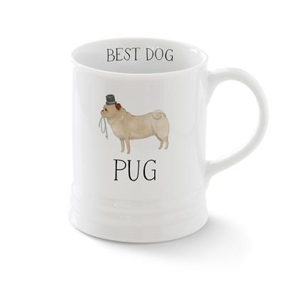 PUG MUG WITH ARTWORK BY JULIANNA SWANEY