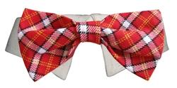Bow Tie Collar - Red Checker