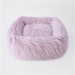 Himalayan Yak Dog Bed: Blush