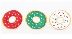 ZippyPaws Holiday Donutz Miniz 3 Pack