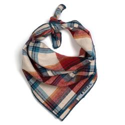 Rust plaid tie bandana