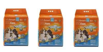 WizSmart Super, 50 Pack,  All Day Dry Premium Dog Pads  (case of 3)