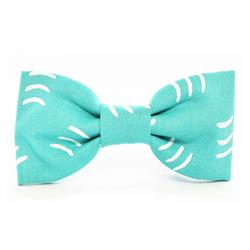 Aqua Waves Dog Bow Tie