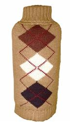 Brown Argyle Sweater NEW