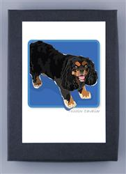 Grrreen Boxed Note Cards: Cavalier Blk & Brown 2