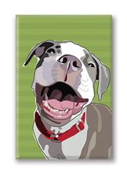 Fridge Magnet: Pitbull Laughing