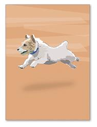 Greeting Card: Birthday - JRT Running