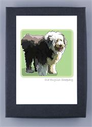 Grrreen Boxed Note Cards: Old Eng. Sheepdog, 2