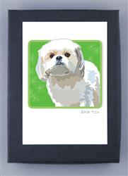 Grrreen Boxed Note Cards: ShihTzu, White