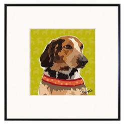 Framed Print: Coonhound
