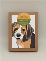TeaTowel: Beagle Tail Up