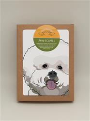 TeaTowel: Bichon Puffy Head