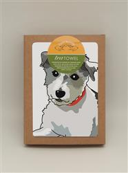 TeaTowel: Jack Russell Terrier Curly Coat