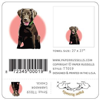 TeaTowel: Lab Pup, Choco