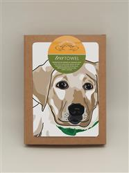 TeaTowel: Lab Pup, Yellow