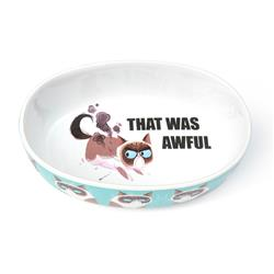 "This is Awful Grumpy Cat® 7"" Oval Bowl, Blue, 2 Cups"