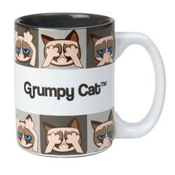 Hear/See/Speak No Evil Grumpy Cat® Mug, Gray 16oz