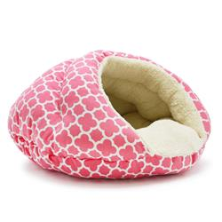 Burger Bed Geo Diamond Pink