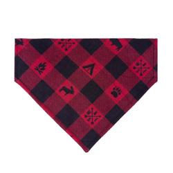 Campfire Flannel Plaid Dog Bandana - Over the Collar Style in 5 Sizes    BUY 10 GET 1 FREE