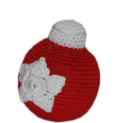 Knit Knacks Christmas Ornament Ball Organic Cotton Small Dog Toy