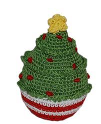 Knit Knacks Christmas Tree Organic Cotton Small Dog Toy