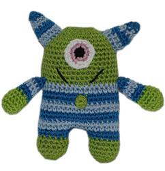 Knit Knacks Monster Organic Cotton Small Dog Toy