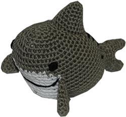 Knit Knacks Shark Organic Cotton Small Dog Toy