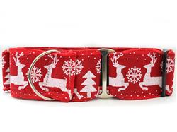 Reindeer Crossing Martingale Dog Collar