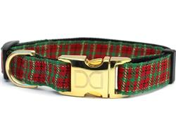 Alpine Plaid Collar Silver Metal Buckles