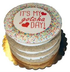 Gotcha Day Layered Cake